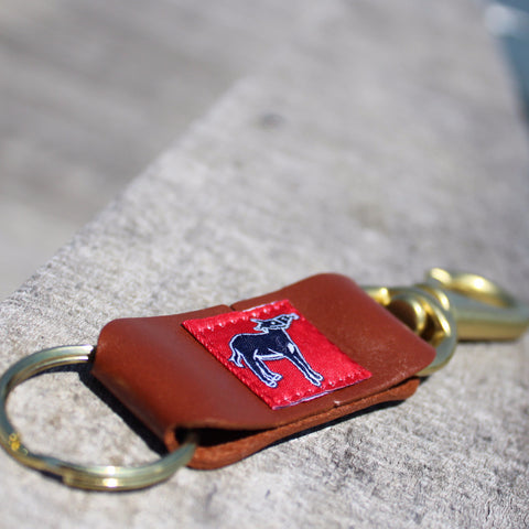 Leather and Brass Key Fob