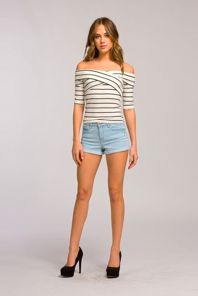 Chels Crossover Stripe Top