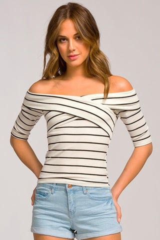 SALE Chels Crossover Stripe Top