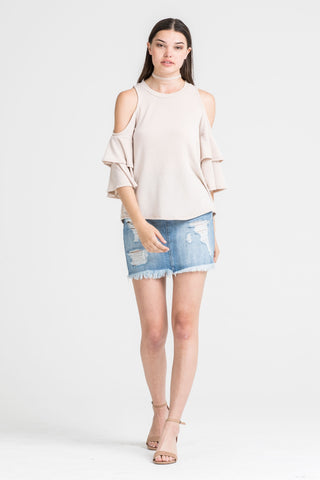 Isabelle Ruffle Sleeve Top