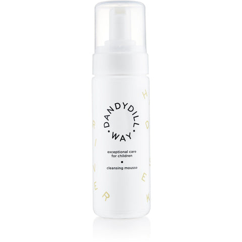 Wild Hawthorn Berry Cleansing Mousse for sensitive skin, 150ml bottle with Dandydill Way design.
