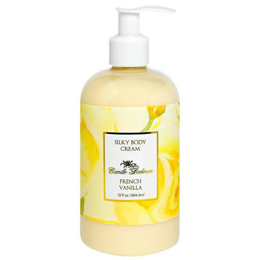 Silky Body Cream 13oz French Vanilla - Camille Beckman