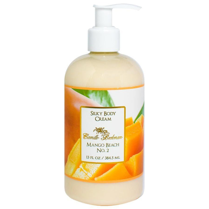 Silky Body Cream 13oz Mango Beach No.2 - Camille Beckman