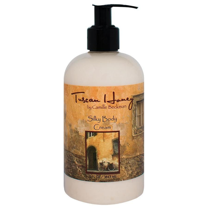 Silky Body Cream 13oz Tuscan Honey - Camille Beckman