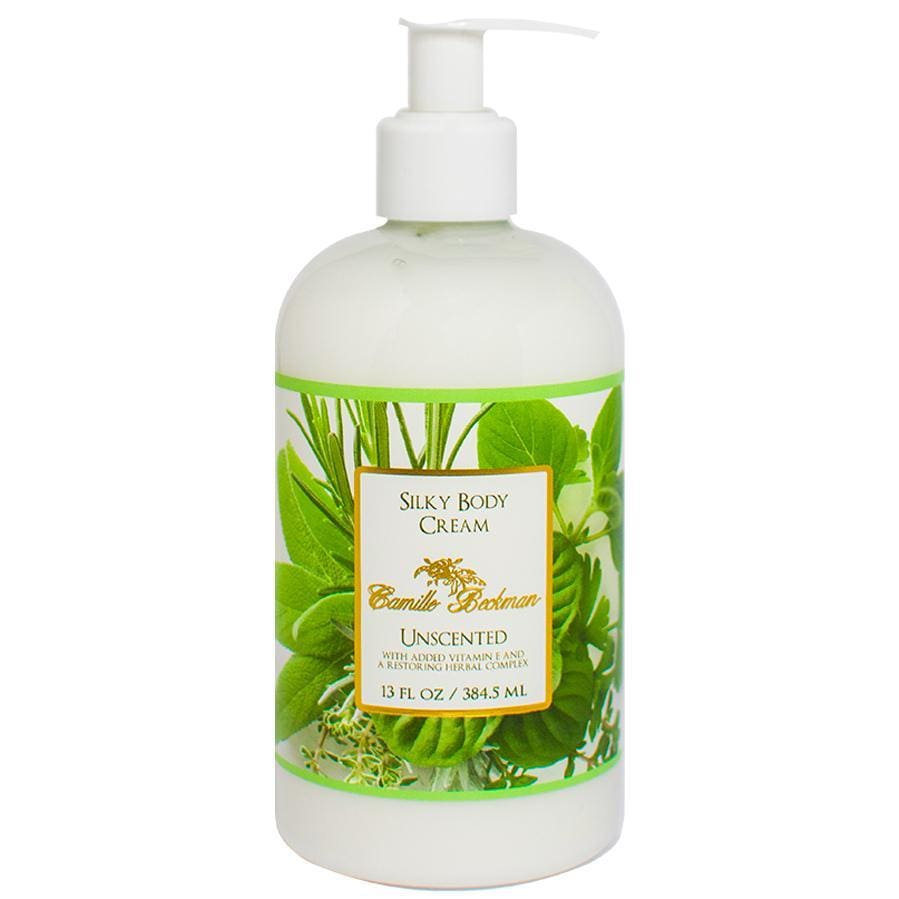Silky Body Cream 13oz Unscented - Camille Beckman