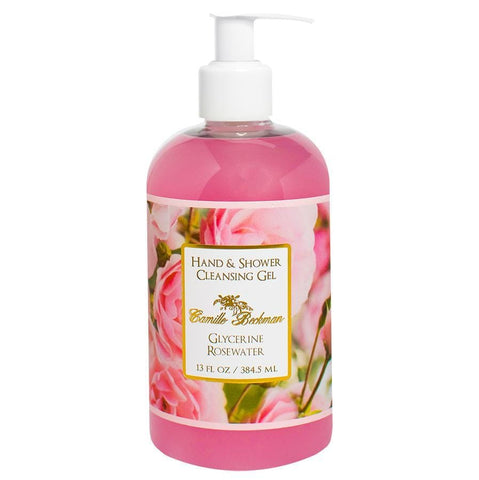 Hand and Shower Cleansing Gel 13oz Glycerine Rosewater