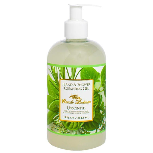 Hand and Shower Cleansing Gel 13oz Unscented - Camille Beckman