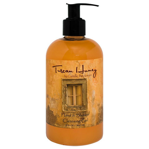 Hand and Shower Cleansing Gel 13oz Tuscan Honey