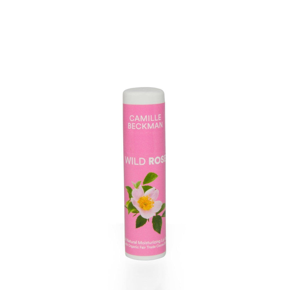Natural Cocoa Butter Lip Balm Wild Rose - Camille Beckman