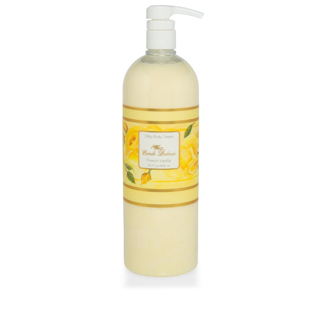 Silky Body Cream French Vanilla 32 oz - Camille Beckman