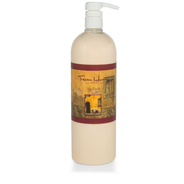 Silky Body Cream Tuscan Honey 32oz - Camille Beckman