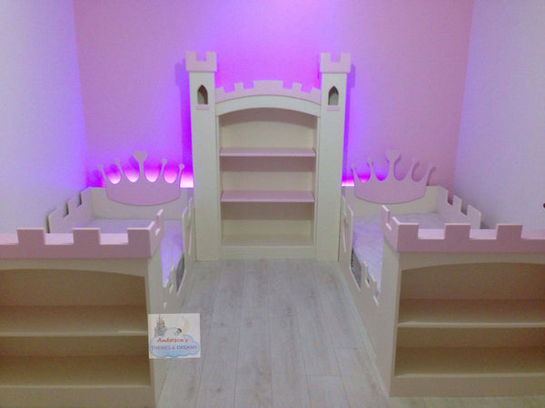 Princess Castle Twin single beds with storage
