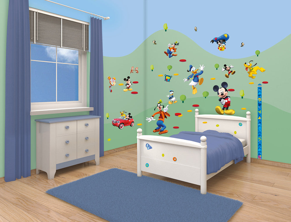 Walltastic Disney Mickey Mouse Clubhouse Room D cor Kits. Walltastic Disney Mickey Mouse Clubhouse Room D cor Kits