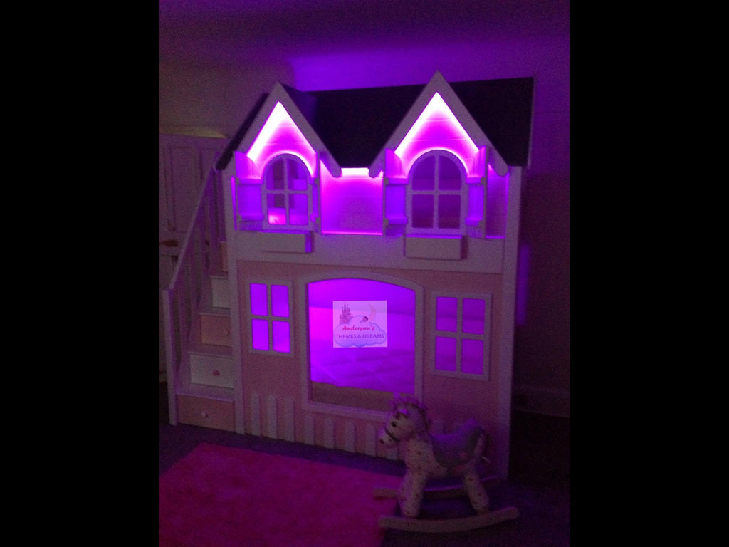 House Bunk Beds With LED Lights