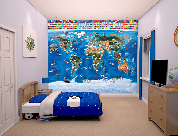 Walltastic Map of the World