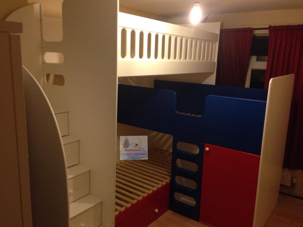 Triple Bunk Beds With Storage