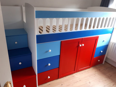 Cabin bed with storage