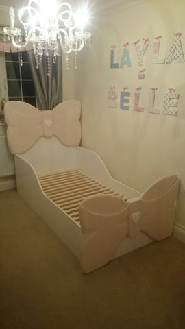 3D bow style single bed