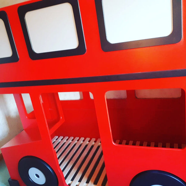 Bus themed bunk beds