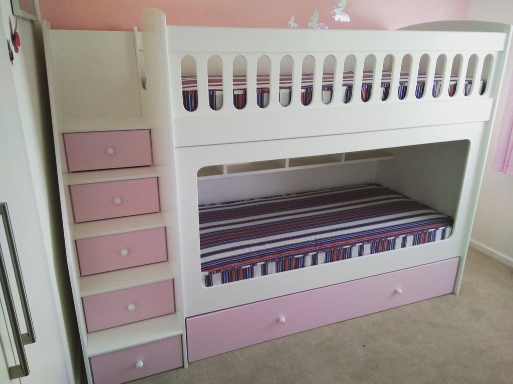 Bunk beds with drawer stairs anderson 39 s themes and dreams - Stairs that are drawers ...