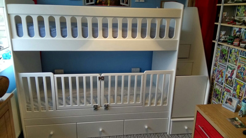 bunk beds with removal cot gates – anderson's themes and dreams