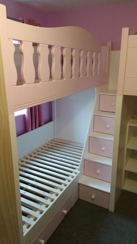 Triple full size single bunk beds