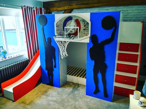Basketball themed bunk beds