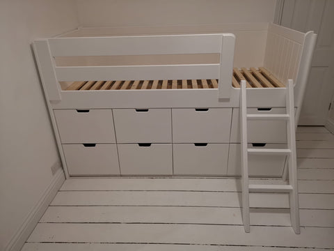 Cabin beds with drawers underneath