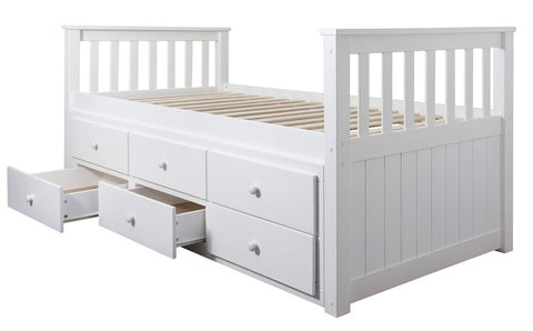 Full size single captain bed