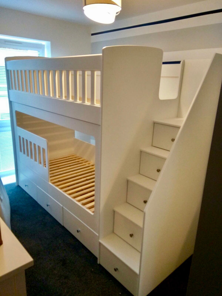 Bunk Beds With Drawer Stairs Anderson S Themes And Dreams