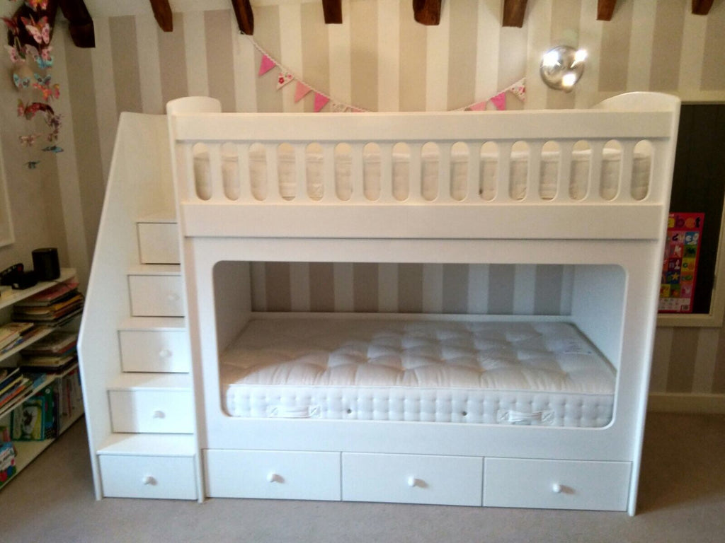 Full Size Single Bunk Beds With Drawer Stairs