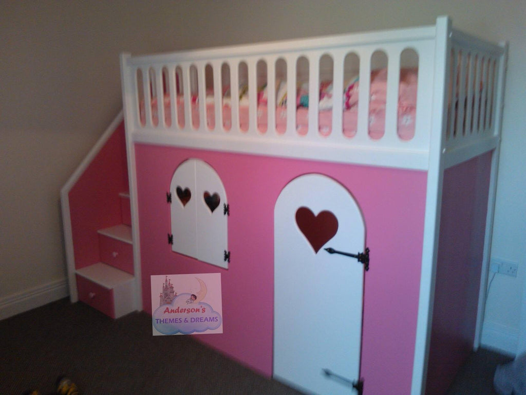 bed beds products with play den pink cabin
