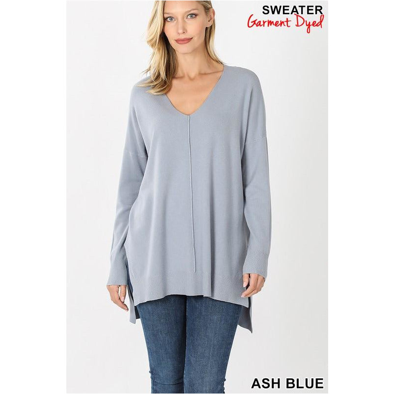 Hi Low Front Seam Sweater