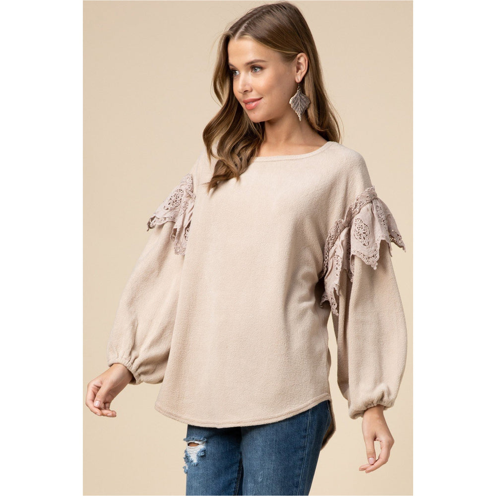 Fleece&Lace Sweater