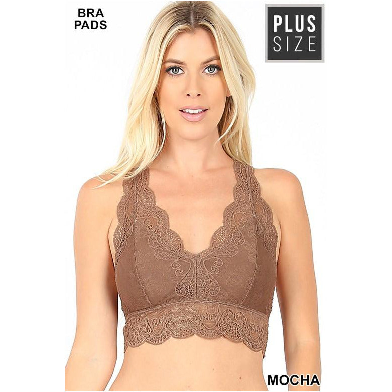 Lace Bralette, Plus