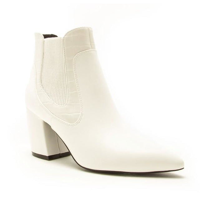 Mechelle, White Bootie