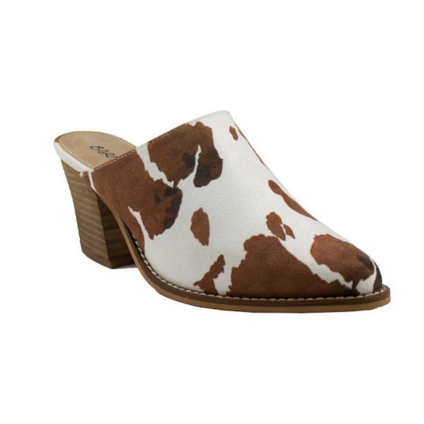 Suede Cow Wedge