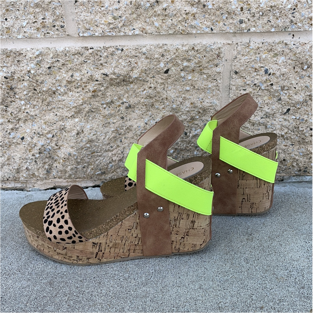 Strapped Wedge w/Leopard