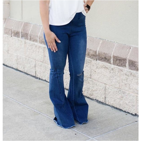 Joie, Elastic Waist Flare Jeans