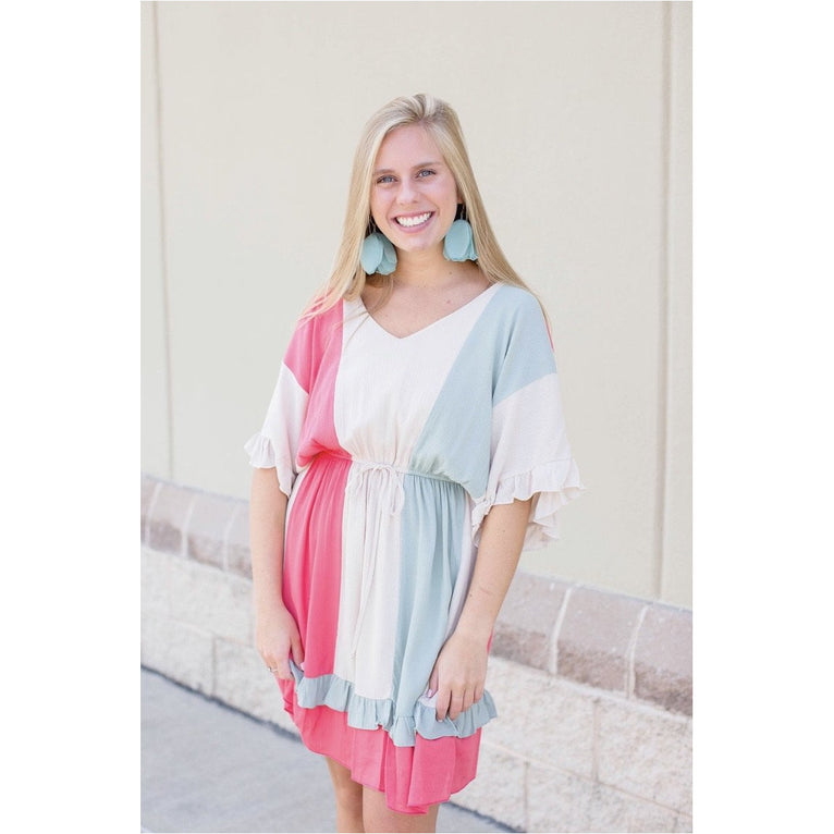 Shayna, Color Block Dress