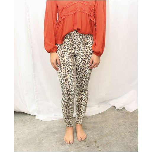 Leopard Cropped Skinnies