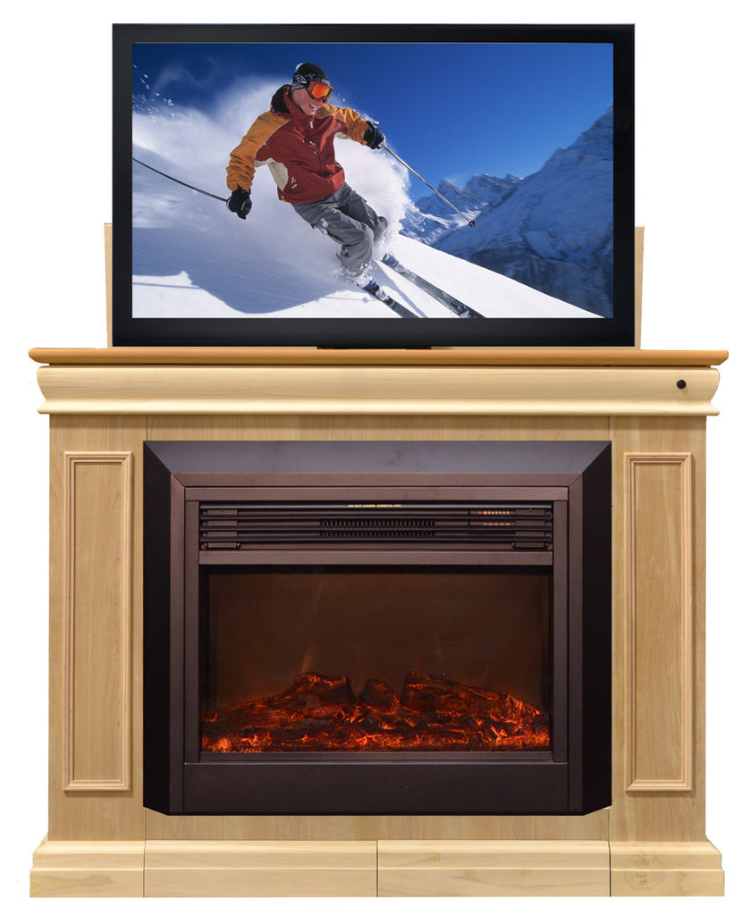 Electric Fireplace Tv Stand Amp Lift Yorkfireplace . - Corner Electric Fireplace Tv Stand Canada Home Media Ideas Small