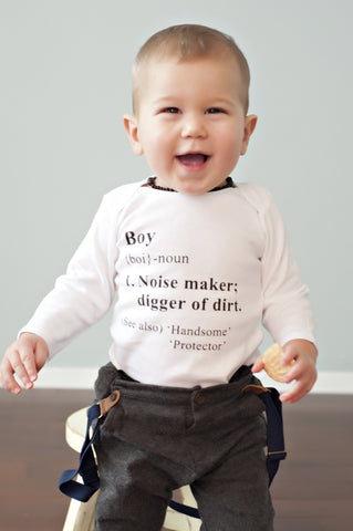 Baby Boy Dictionary Onesie!