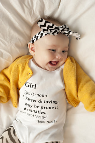 Cute Girl Dictionary Definition Onesie!
