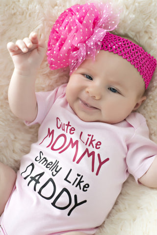 Cute Like Mommy - Girls Onesie