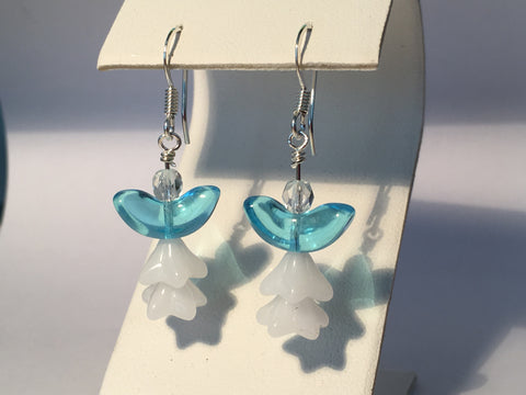 Christmas Angel Earrings - Blue Wings