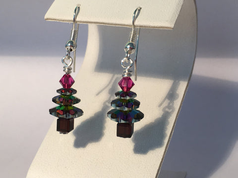 Christmas Tree Earrings - Multicolour