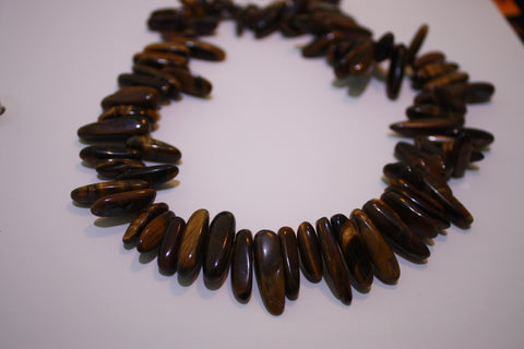 Tigers Eye Long Chips