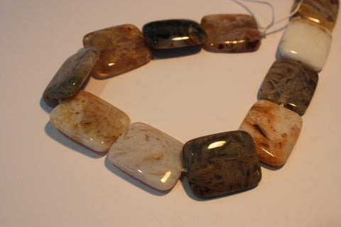 Bamboo Leaf Agate Rectangles