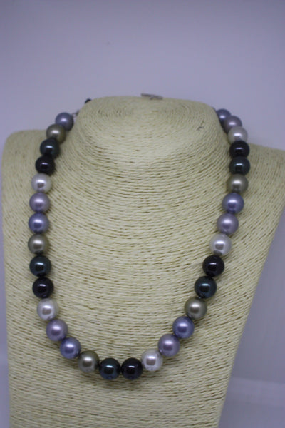 Shell Pearl Necklace and Bracelet - made with Sterling Silver